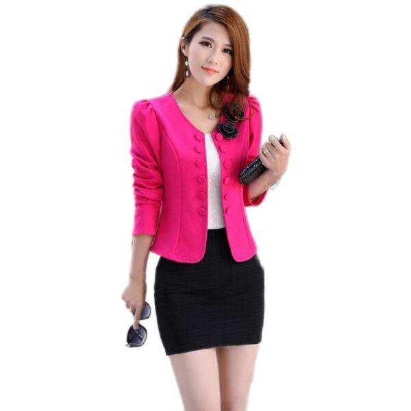 b42cdd3c16479 Factory Price Fashion Brand Coat Jacket Women Suit Blazer Plus Size ...