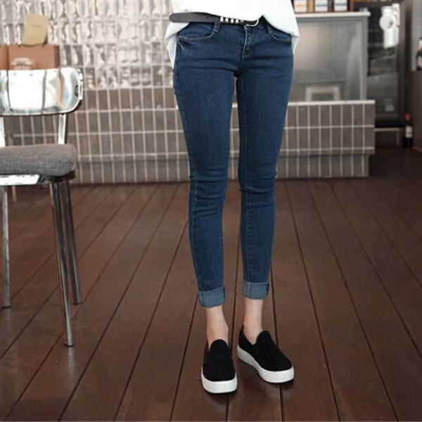 e49ef116da 3Xl Plus Size Women Casual Mid-Waist Denim Jeans Korean Fashion Slim ...