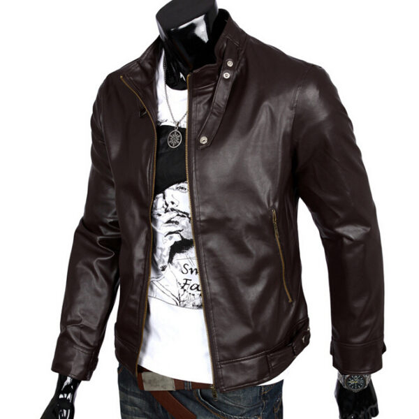 c88eac92941 European American Style Motorcycle Leather Men Jacket Casual Punk Pilot Leather  Jackets ...