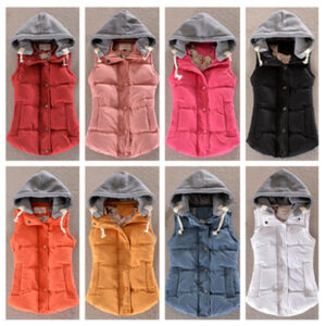 5af1bdf306e6f Fashion Down Vest Women Slim Vest Thermal Cotton Velvet Vest Plus Size Xl  Xxl Xxxl Female 9 Color  4358Logan