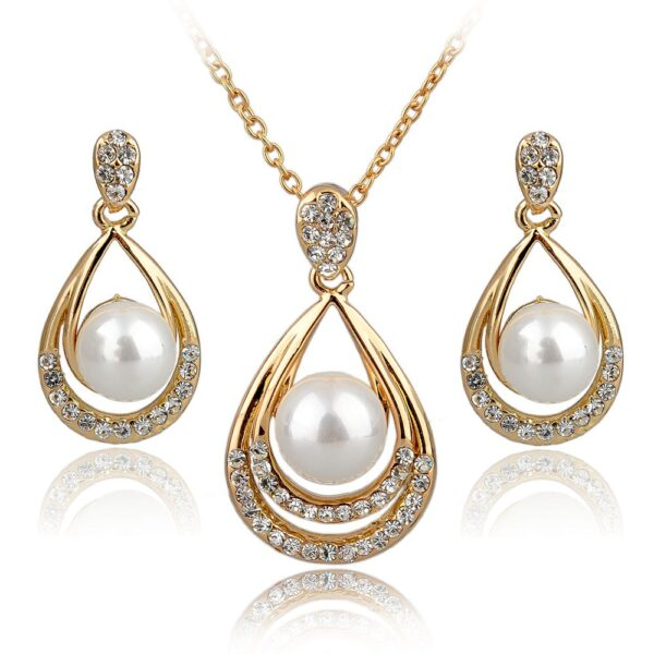 Fashion Jewelry Sets 18K Real Goldsilver Plated Rhinestone Jewelry