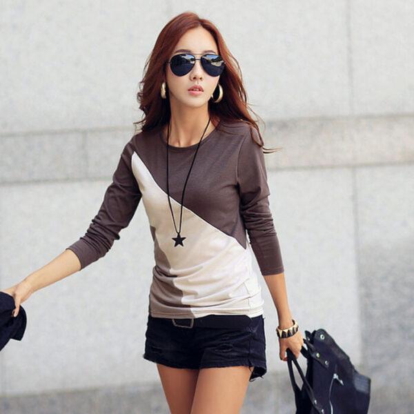 570562105c Free Ship Casual T Shirts Women Blouse Long Sleeve Cotton T Shirt ...