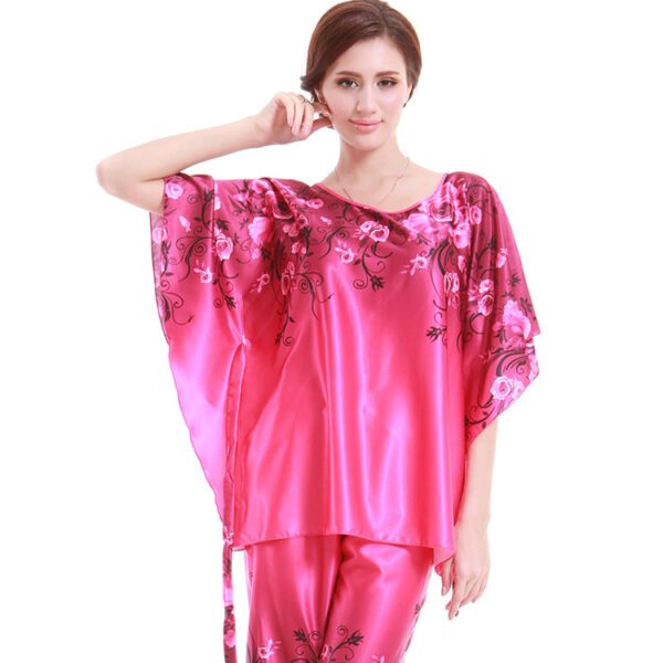 e197ac5732 Brand Women Silk Pajamas Sexy Silk Women Nighties Set New Brand Women Sleep  Wear Dress Set  8114William