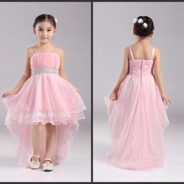 Flower Girl Dress With Trail For #6897Hannah · Dorico Fashion
