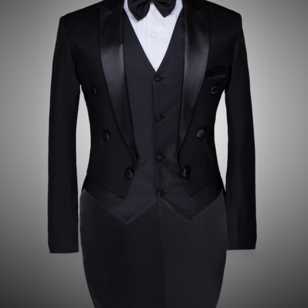 Male Custom Groom Prom Suit Mens Tuxedo Black And White Wedding ...